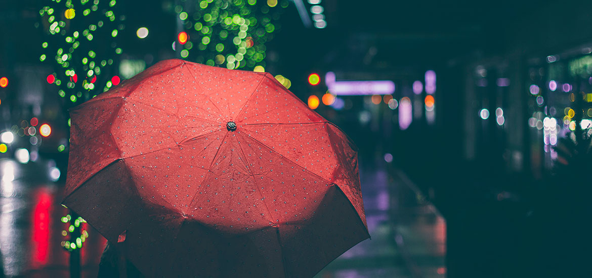 How to assorted umbrella in a rainy day